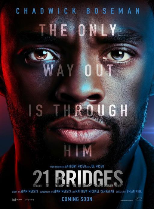 Affiche du film 21 Bridges - actuellement en salle au cinéma Rex