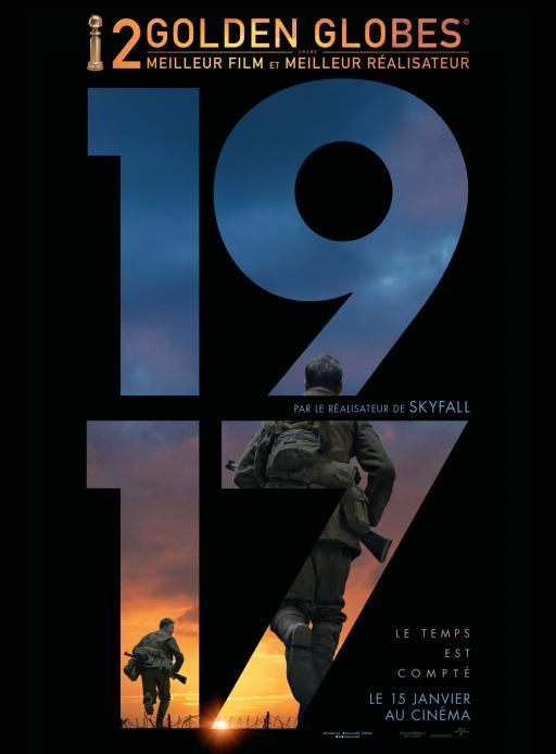Affiche du film 1917 - actuellement en salle au cinéma Rex