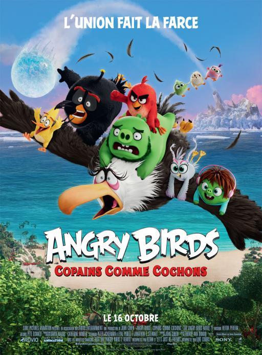 Affiche du film Angry Birds : Copains comme cochons - actuellement en salle au cinéma d'Arbaud