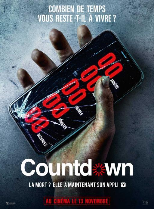 Affiche du film Countdown - actuellement en salle au cinéma d'Arbaud