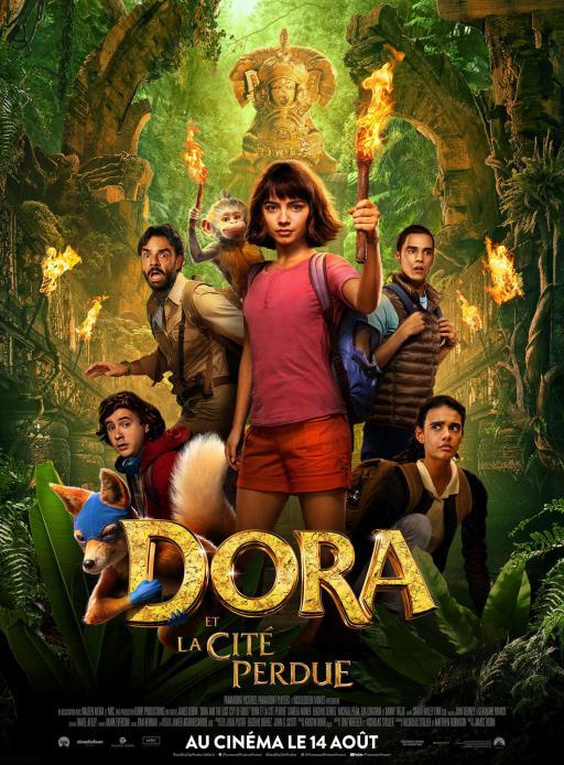 Affiche du film Dora et la Cité perdue - actuellement en salle au cinéma d'Arbaud
