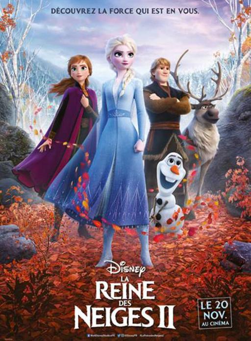 Affiche du film La Reine des neiges 2  - actuellement en salle au cinéma d'Arbaud