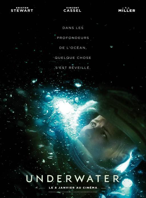 Affiche du film Underwater - actuellement en salle au cinéma Rex